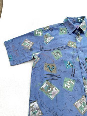 Vintage koszula z krutkim rękawem