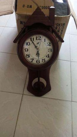 Relógio parede madeira