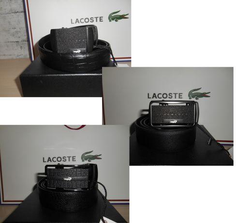 Мужской Ремень пояс Lacoste кожа, Франция 3 модели