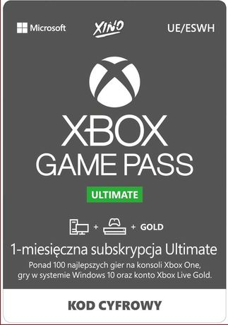 Subskrybcja gold+game pass 30 dni możliwa PSC/PRZELEW płatność