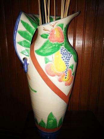 Jarrão grande pintado mão