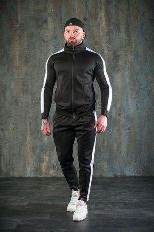 Стильный Мужской спортивный КОСТЮМ с лампасами,штаны 2 цвета
