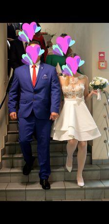 Suknia ślubna (krótka), cena do negocjacji