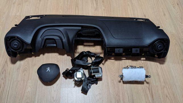 Conjunto Kit Airbags Peugeot 108 Tablier Original Completo