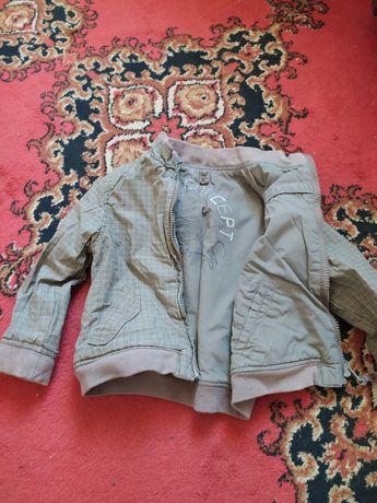 Двухсторонняя осенняя куртка на мальчика 1-1.5года