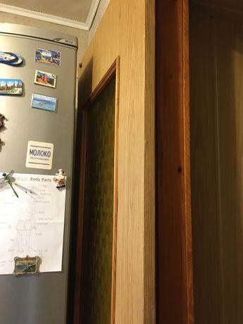 Двери  самодельные + коробка с натурального дерева