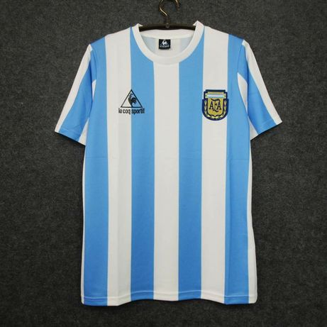 Camisola Argentina - Maradona 86 em Stock