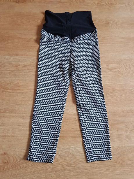 Spodnie ciążowe wizytowe rozmiar 38 nowe H&M biało czarne