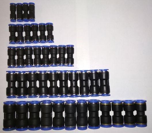 Соединители прямые для пластиковых трубок