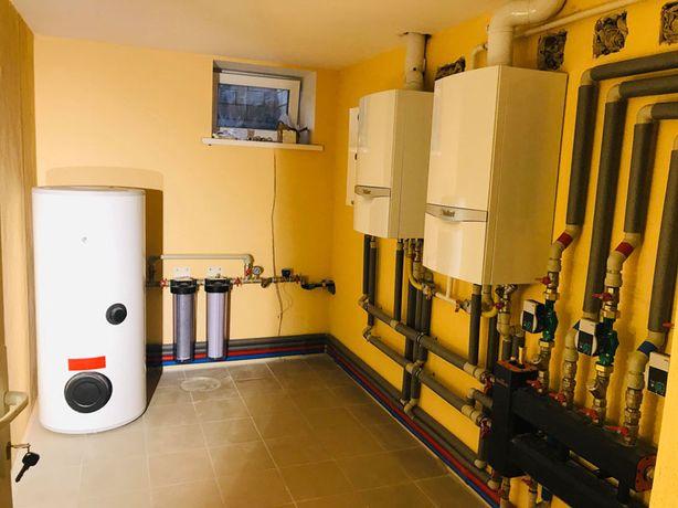 Монтаж та обслуговування мереж опалення та водопостачання.