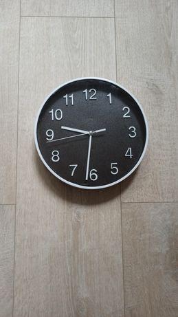 Zegar ścienny okrągły czarna tarcza