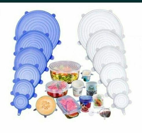 силиконовые крышки набор 6 штук