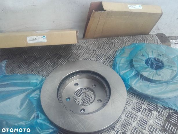 komplet dwie tarcze wentylowane przód chrysler pacifica 04-08 nowe mopar  5011234aa 5011234