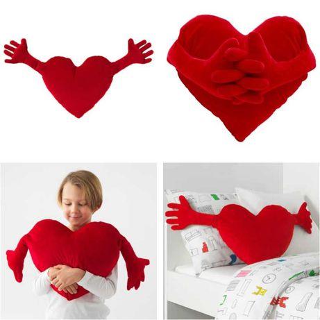 Плюшевая игрушка Сердце 40х101 см IKEA - детская мягкая подушка