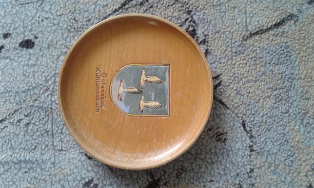 Тарелка деревянна ГДР
