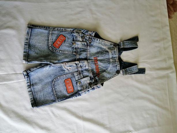Комбинезон с шортами джинсовый на мальчика