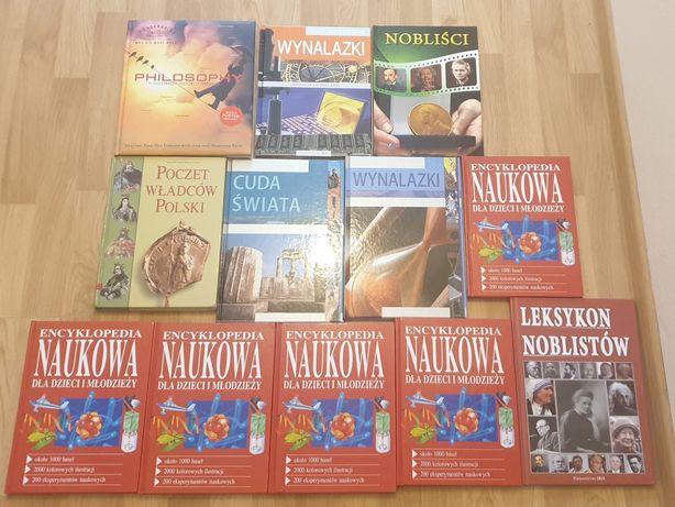 Atlasy encyklopedie książki naukowe nobliści wynalazki władcy polski