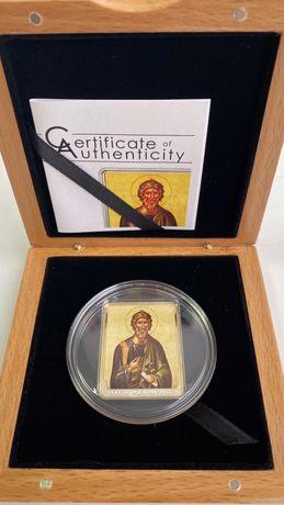 Серебряная монета Святой Андрей Первозванный 25 грамм именная монета