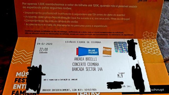 Bilhetes Concerto ANDREA BOCELLI