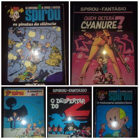 Lote de 9 Livros de Spirou e Fantásio