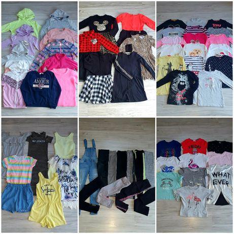 Paczka ubrań 65 sztuk dla dziewczynki r.134-146