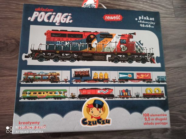 Układam pociągi, puzzle czuczu