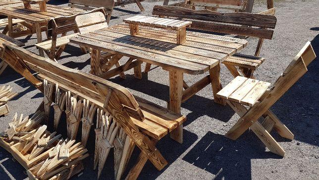 komplety ogrodowe stoły ławki meble ogrodowe