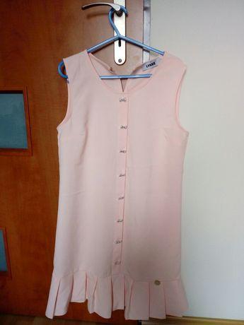 Sukienka brzoskwiniowa rozm. 38