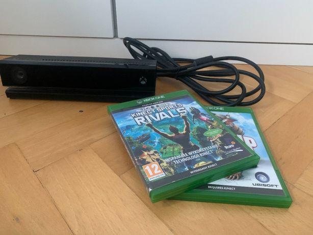 Xbox one kinect + 2 gry xbox one