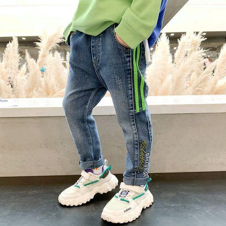 Стильные модные джинсы узкачи, осень, 90-130см