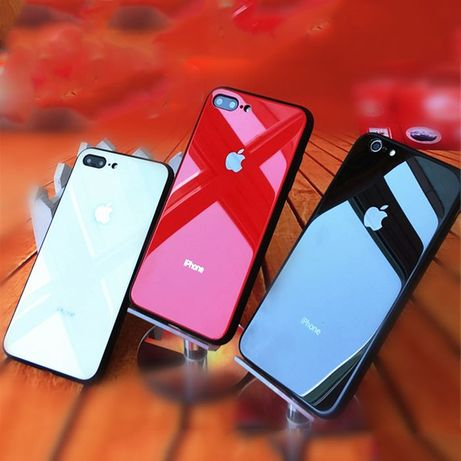 Чехол стеклянный iPhone 6/S/7/8/Plus/+/X/XS/XR/Max/11 Silicone case
