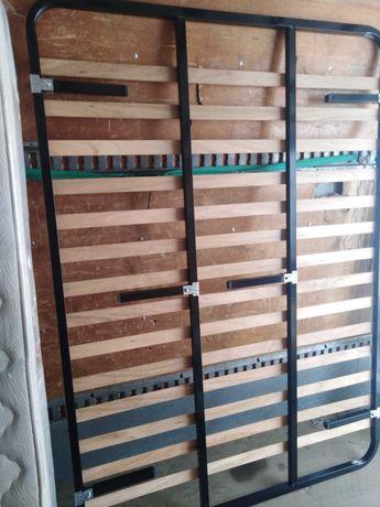 Estrado de ripas + colchão 195x140
