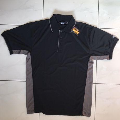T-shirt polo czarny roboczy męski SITE do pracy sportu Rozmiar M