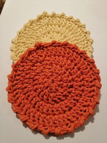 Podkładki wiosenne ze sznurka bawełnianego hand made