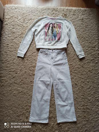 Spodenki jeansy białe plus bluza