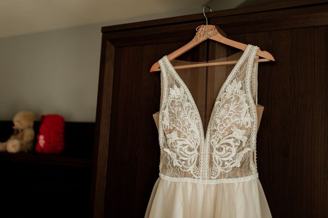 Suknia ślubna kolor szampański