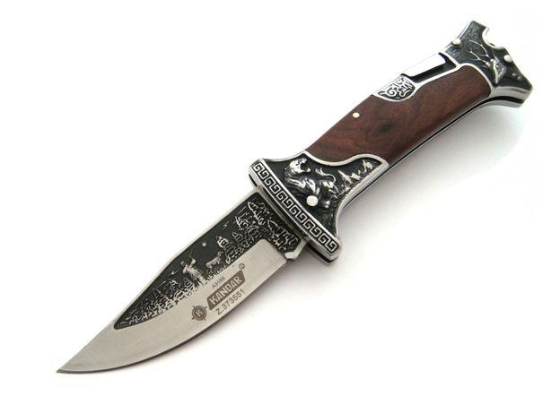 Nóż myśliwski scyzoryk składany Kandar duży grawer N0643