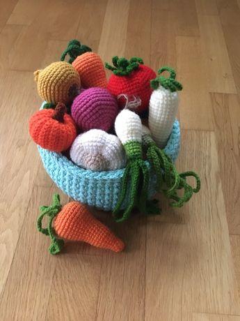 Warzywa i owoce szydełkowe metoda montessori