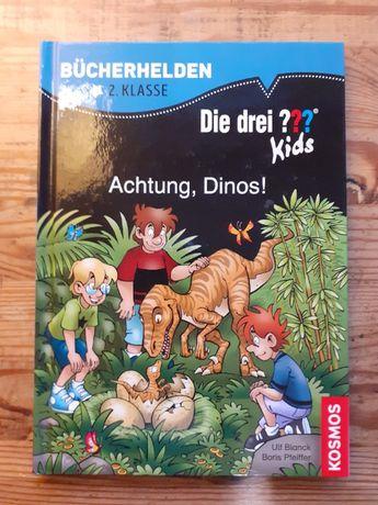Дитячі книжки німецькою мовою. Actung, Dinos