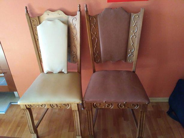 Piękne holenderskie krzesła + material obiciowy gratis