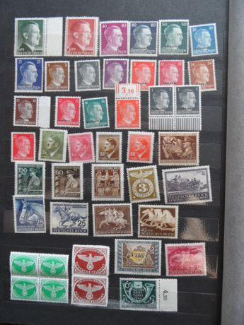hitler deutsche reich protektorat stare znaczki pocztowe czyste zestaw