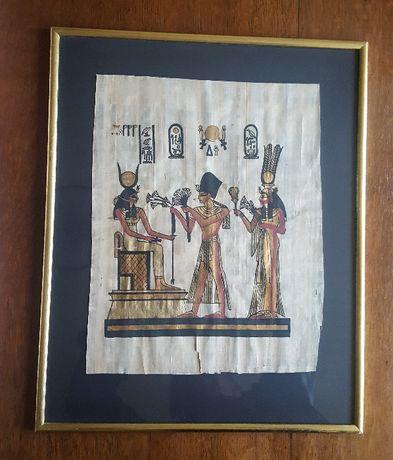 Egipskie papirusy za szkłem, do powieszenia