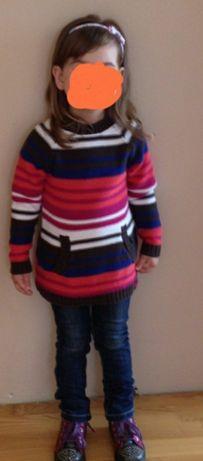 Kolorowy, ciepły sweter/sweterek S.Oliver r. 104-110 stan bdb