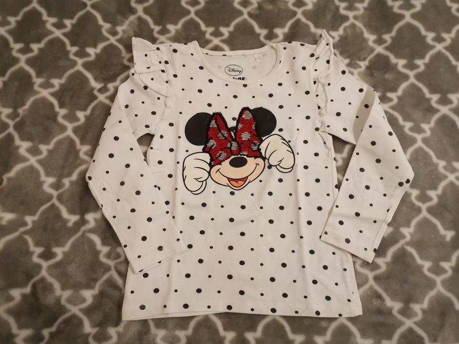 Bluza koszulka obracane cekiny Minnie Disney C&a 122 Legnica - image 1