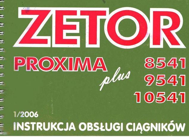 Zetor Proxima 8541, 9541, 10541 plus instrukcja obsługi PL