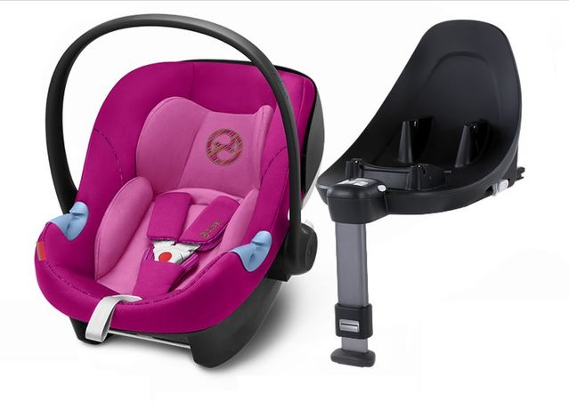 Fotelik 0-13 kg Cybex Aton M i-Size kolor Fancy Pink + baza M i-Size
