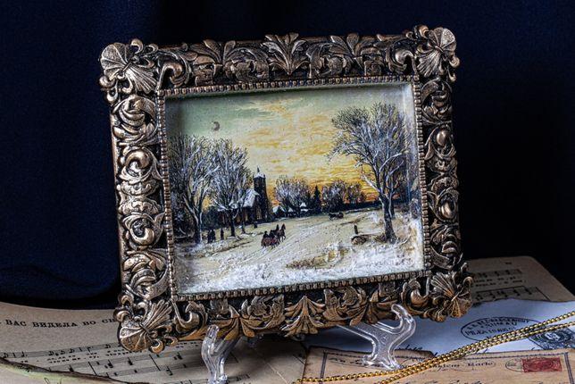Картина Рождественский сочельник панно декор сувенир подарок