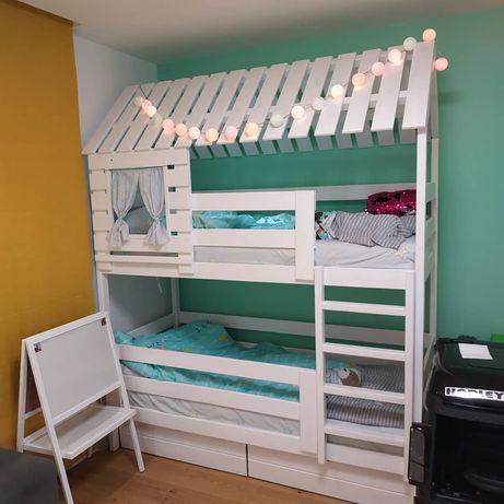 Красивая двухьярусная кровать-домик Марк с окошками от производителя