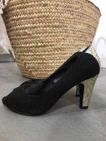 Туфли new look с открытым носком замшевые