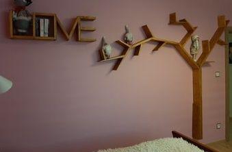 Półka na książki drzewo plus HOME lub LOVE promocja